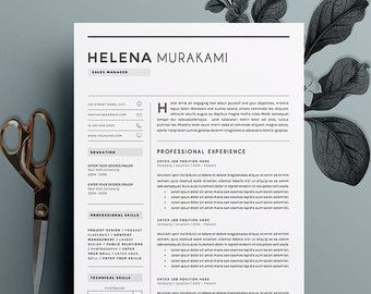 4page resume cv template cover letter by theresumeboutique - Cover Letter Resumes