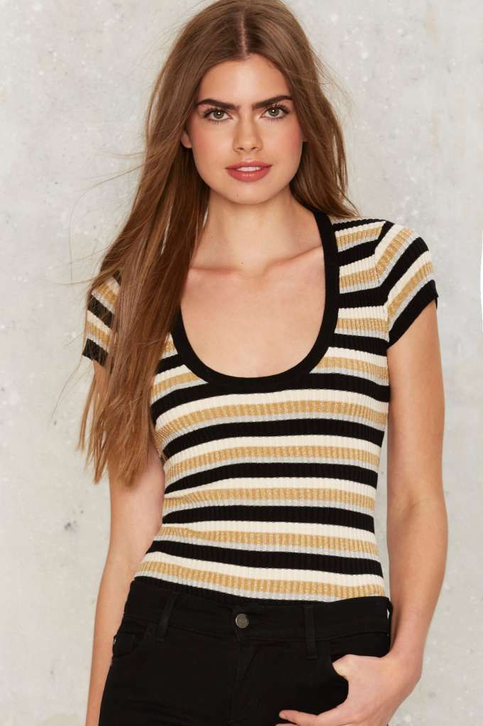 011d0632e Nasty Gal Come Round Striped Tee - Sale: 60% Off | Tops | Wish list ...