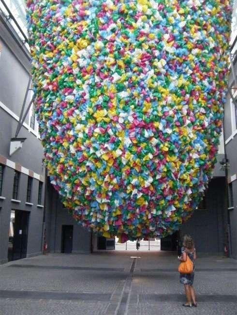 Protesting Plastic Bag Art | family | Plastic art, Protest