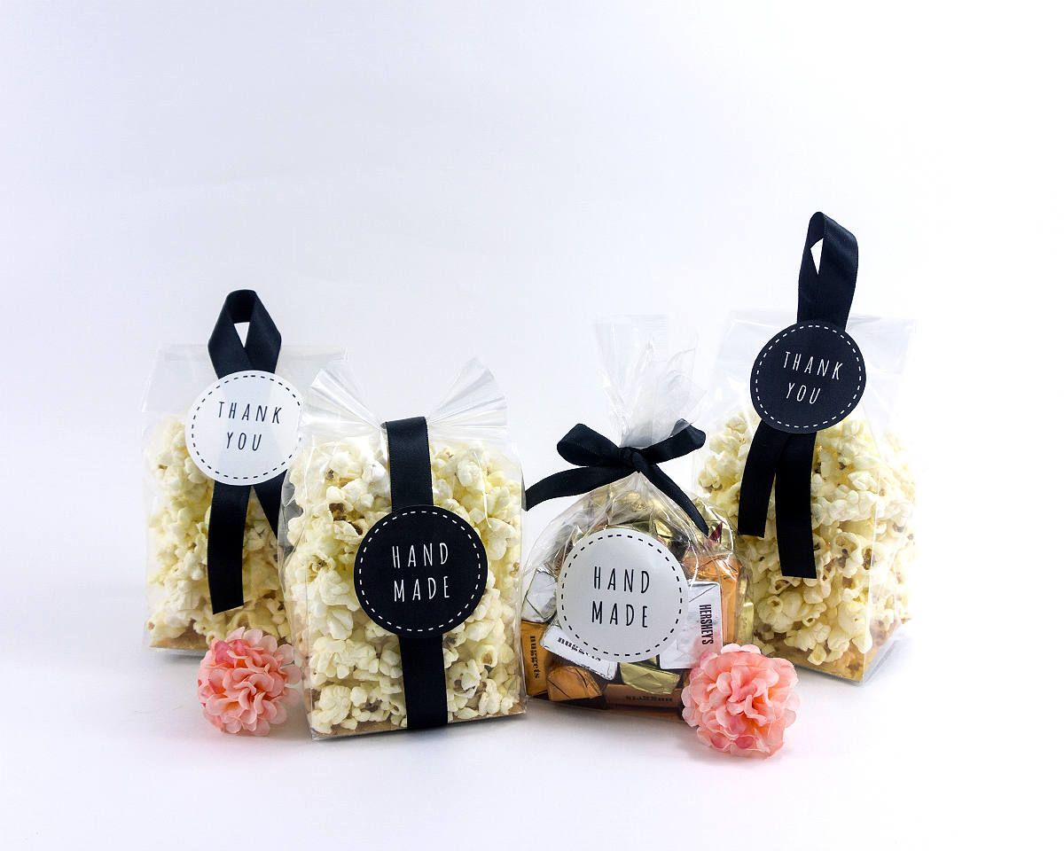 10 cookie bag sets with ribbon and stickers,candy bags,party favor ...