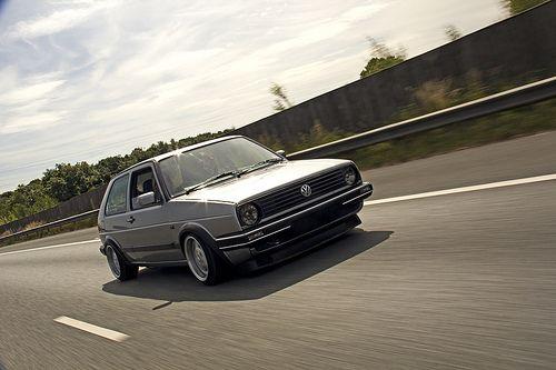 VW Golf MK2 Rolling Shot