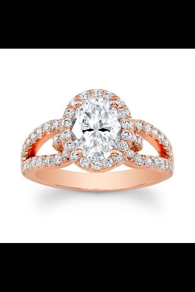 Rose gold engagement ring | Rose Gold Engagement Rings | Pinterest ...
