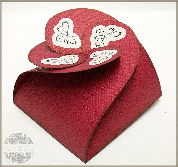 Birgit's Blog - kreatives und mehr...: Schachtel in Rot