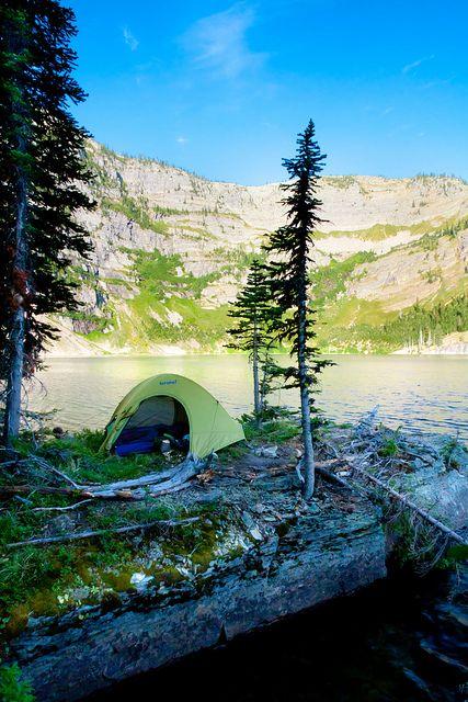 Camp at Upper Cedar Lake by High Trails, via Flickr