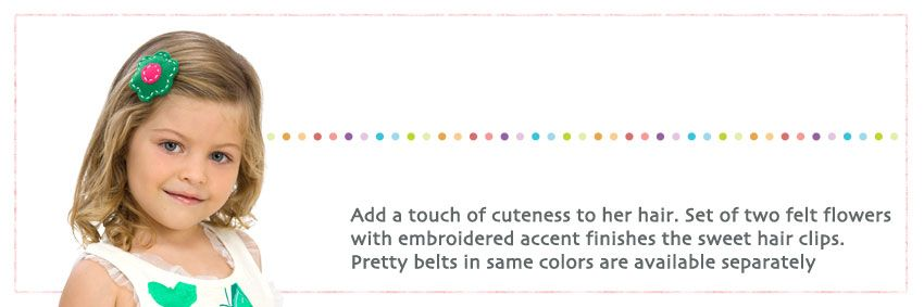 Gaby Hair Clips /  Hand Made Hair Accessories for Girls by Little Prints Workshop / Fabric: Felt