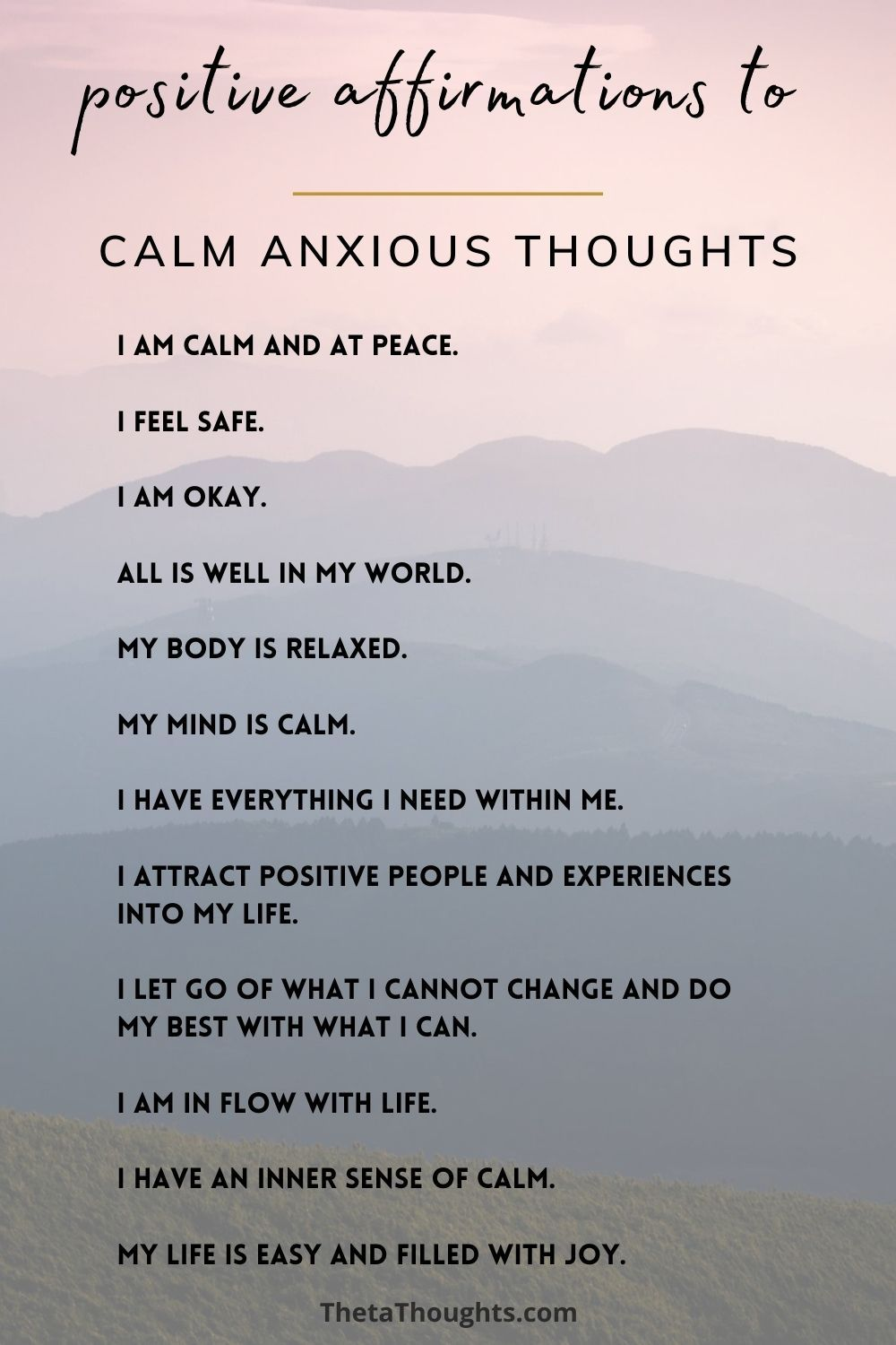Calm Anxious Thoughts