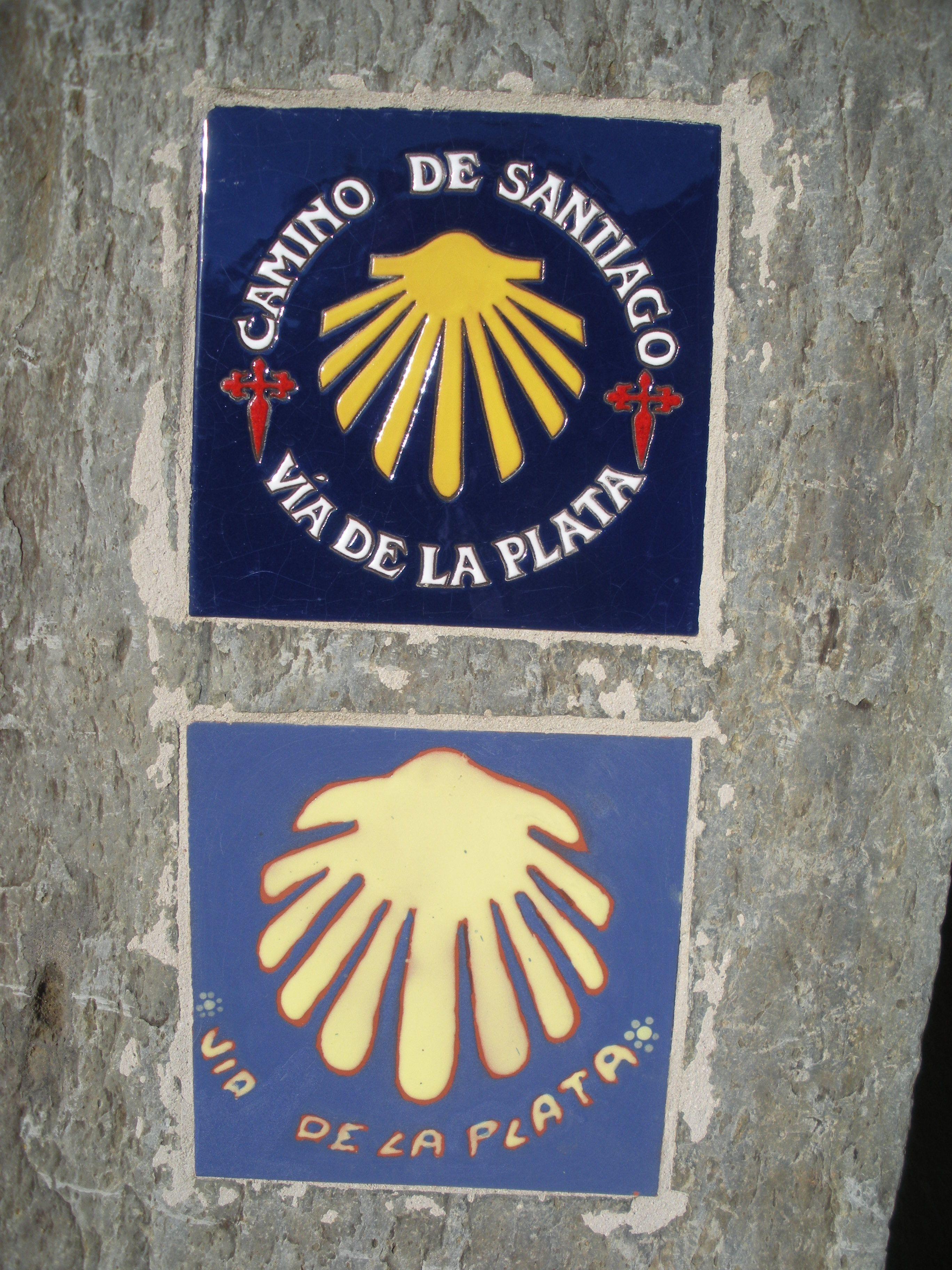 Señales Del Camino De Santiago En La Vía De La Plata Salamanca España