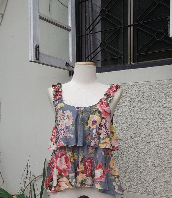 Summer Collection / Sweet Floral Double Ruffle by ilovewaterlily, $28.00