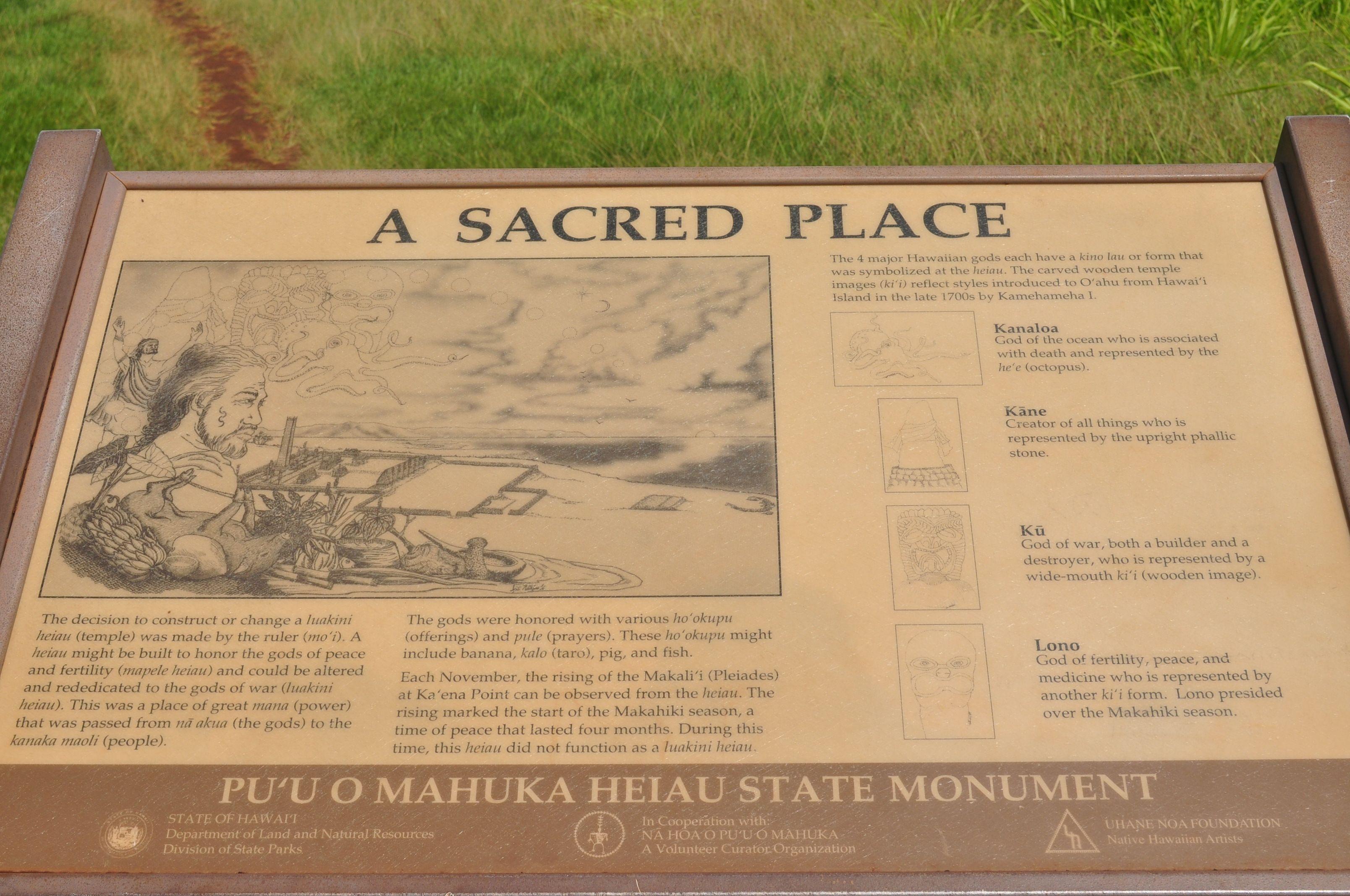 Sacred Burial Grounds of Hawaiian Gods:Pu'u O Mahuka