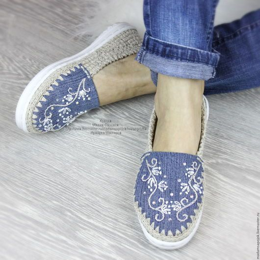 handmade shoes.  Fair Masters - handmade.  Buy Linen Shoes