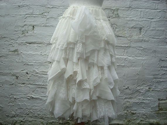 Image result for tattered wedding dress skirt