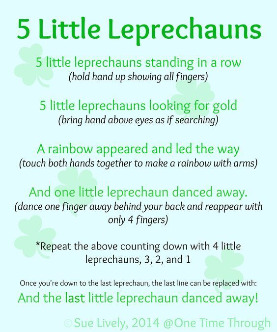 Leprechaun Finger Puppets Amp Rhyme Preschool Ideas St