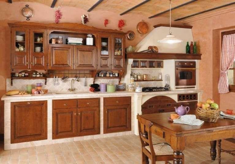 Cucine in finta muratura - Cucina lineare in muratura