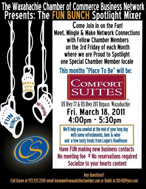 Fun Bunch Comfort Suites Chamber Events Business Networking Waxahachie