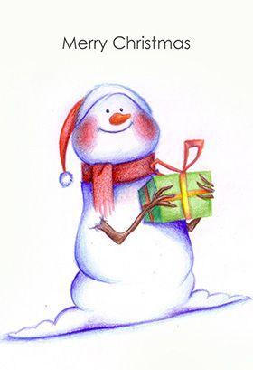 Printable christmas cards to color