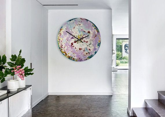 Large Wall Clock Modern Wall Light Large Circular Art Large Clock