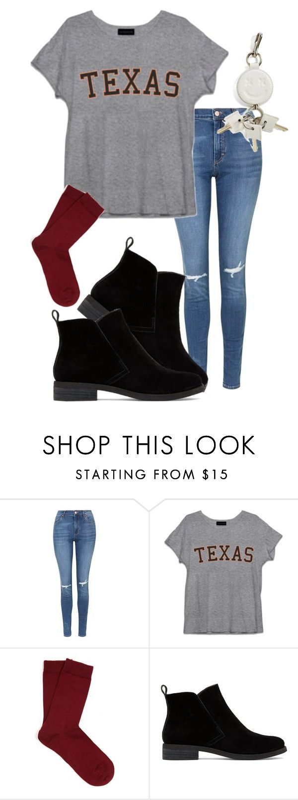 """Untitled #284"" by alyssadesgrange ❤ liked on Polyvore featuring Topshop, Falke, Lucky Brand and Alexander Wang"