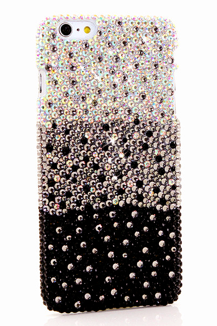 5a4efa85a Cute Girly Bling iPhone 6 6s Fade to Black design case protective phone  cover pearl
