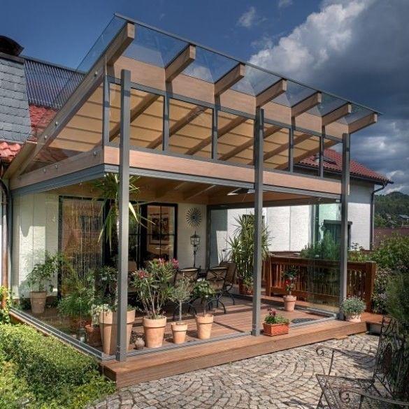 Terrassenverglasung und Terrrassenüberdachung mit - garten terrasse uberdachen