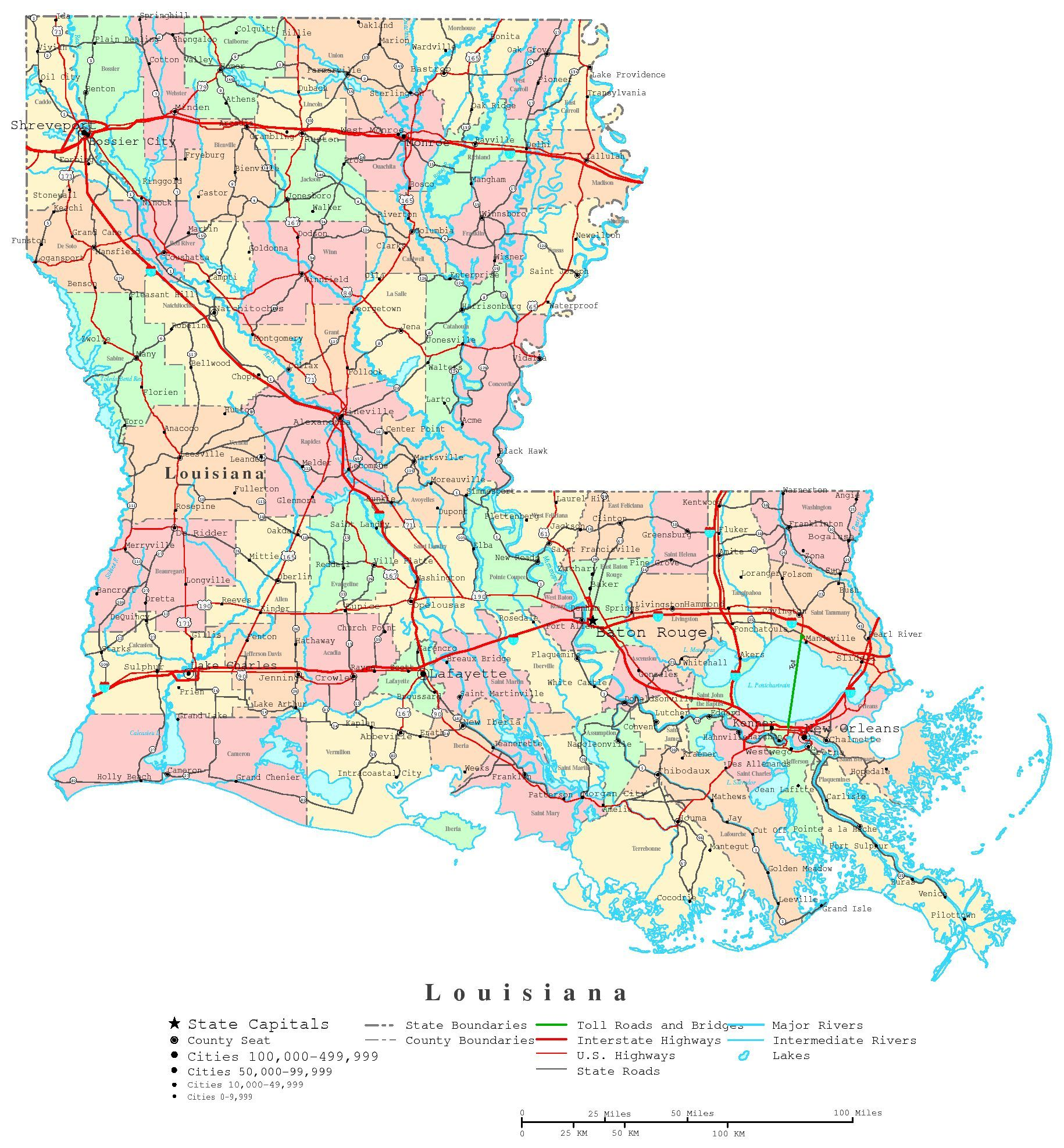 picture relating to Printable Texas County Map called Printable Map of Louisiana Towns If I at any time contain a 2nd