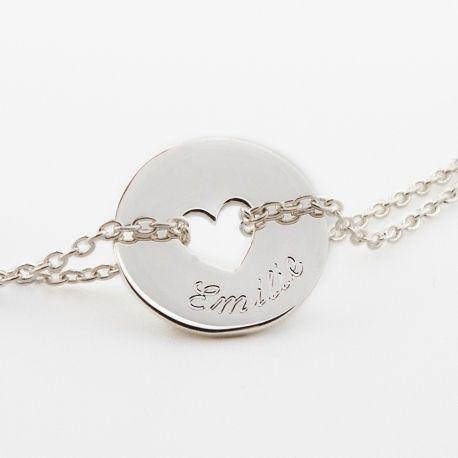 bracelet chaine coeur personnalisé argent   Callie   Pinterest ... 092e325489c5