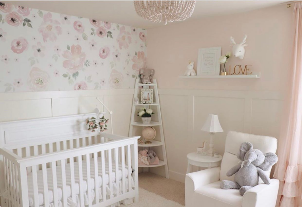 This Nursery Has All The Perfect Sweet Feminine Touches