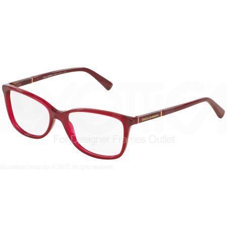 DOLCE & GABBANA Eyeglasses DG 3219 2681 Opal Red 55MM - Walmart.com ...