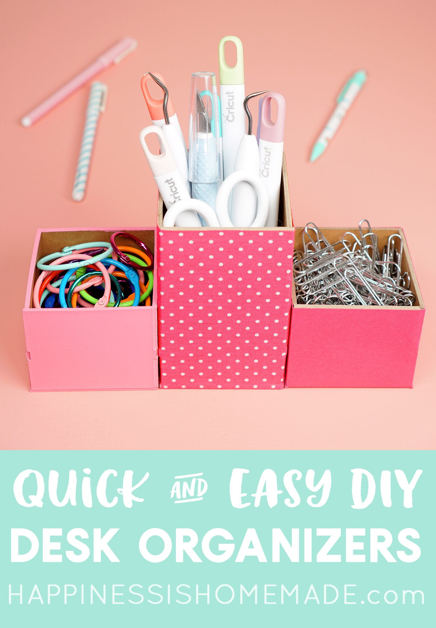 Organize your craft room or office with these easy DIY