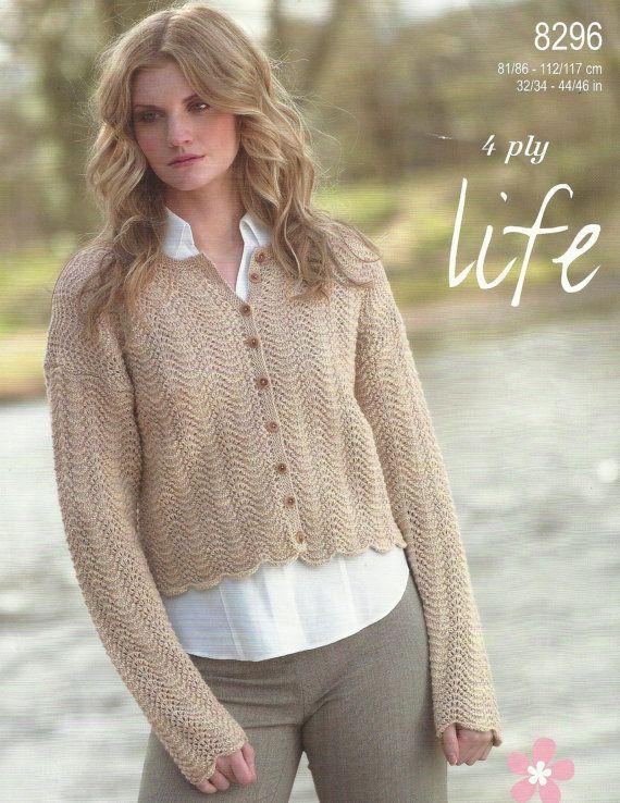 Las señoras Cardigan tejido patrón. | cocuk hirkalari | Pinterest ...
