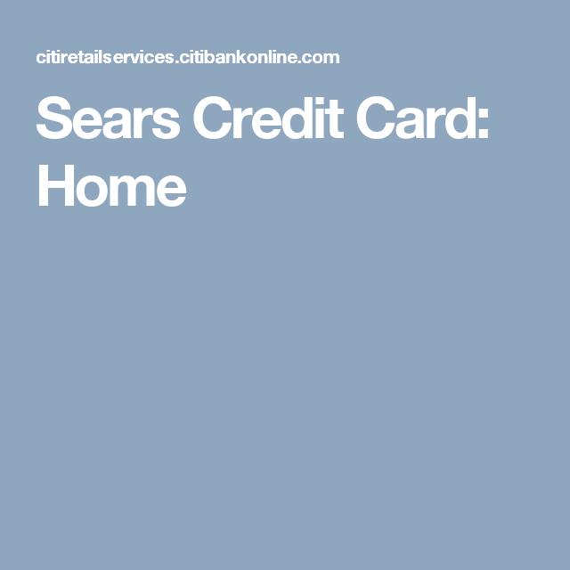 Sears Credit Card: Home