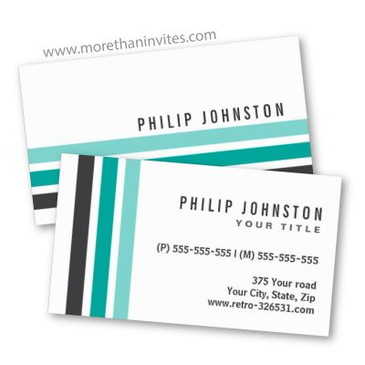 Generic business cards with dark tray teal and aqua stripes modern generic business cards with dark tray teal and aqua stripes modern with a touch colourmoves