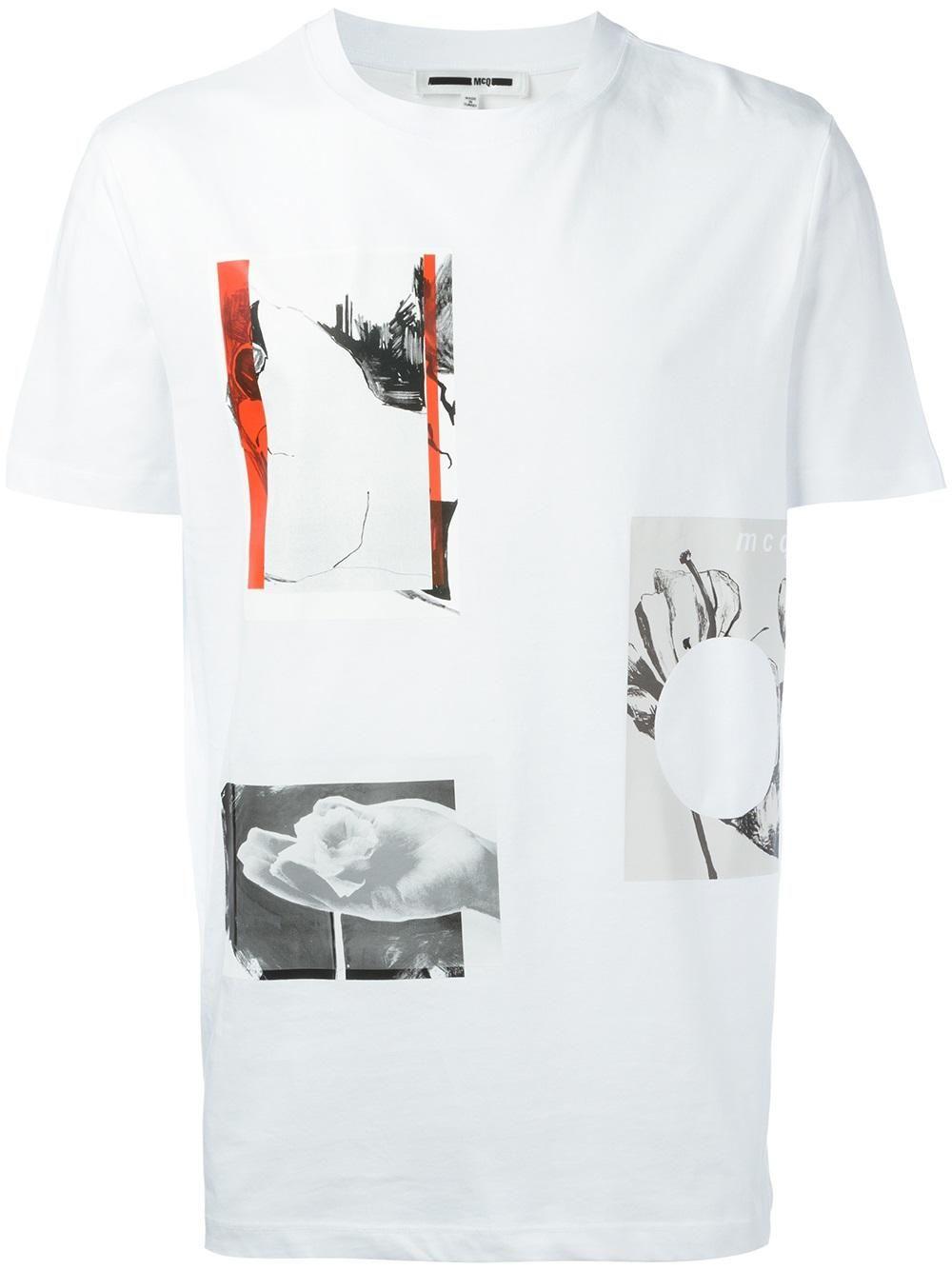 McQ Alexander McQueen playera con estampado de collage  38b48564cf543