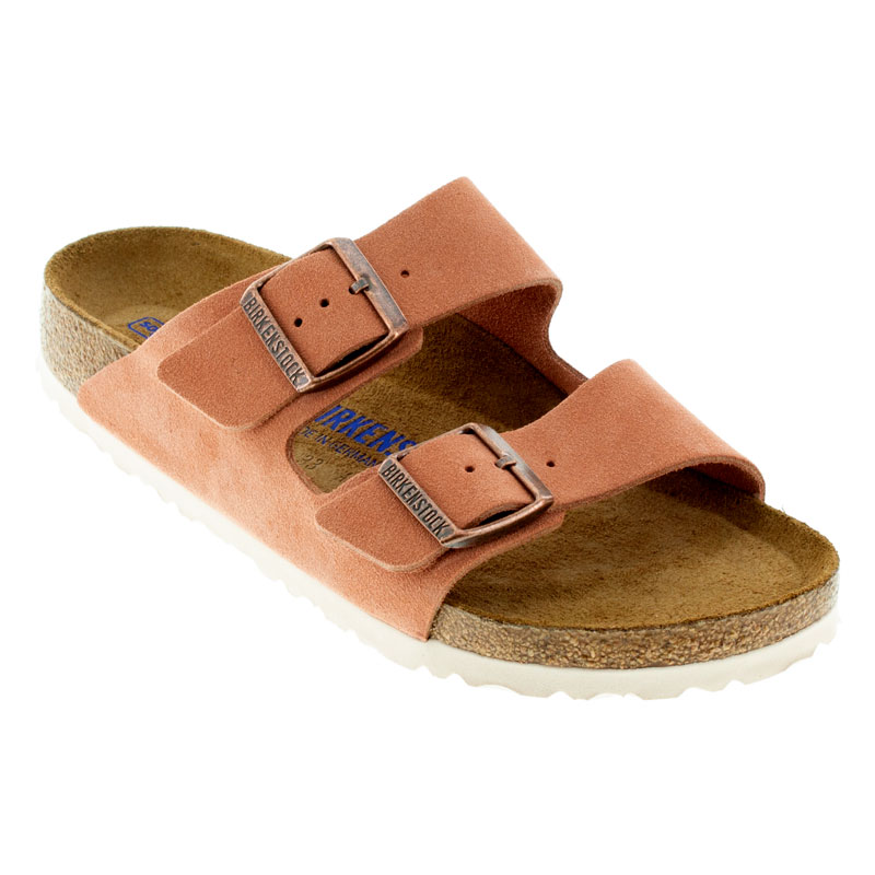 terracotta-colored suede sandals