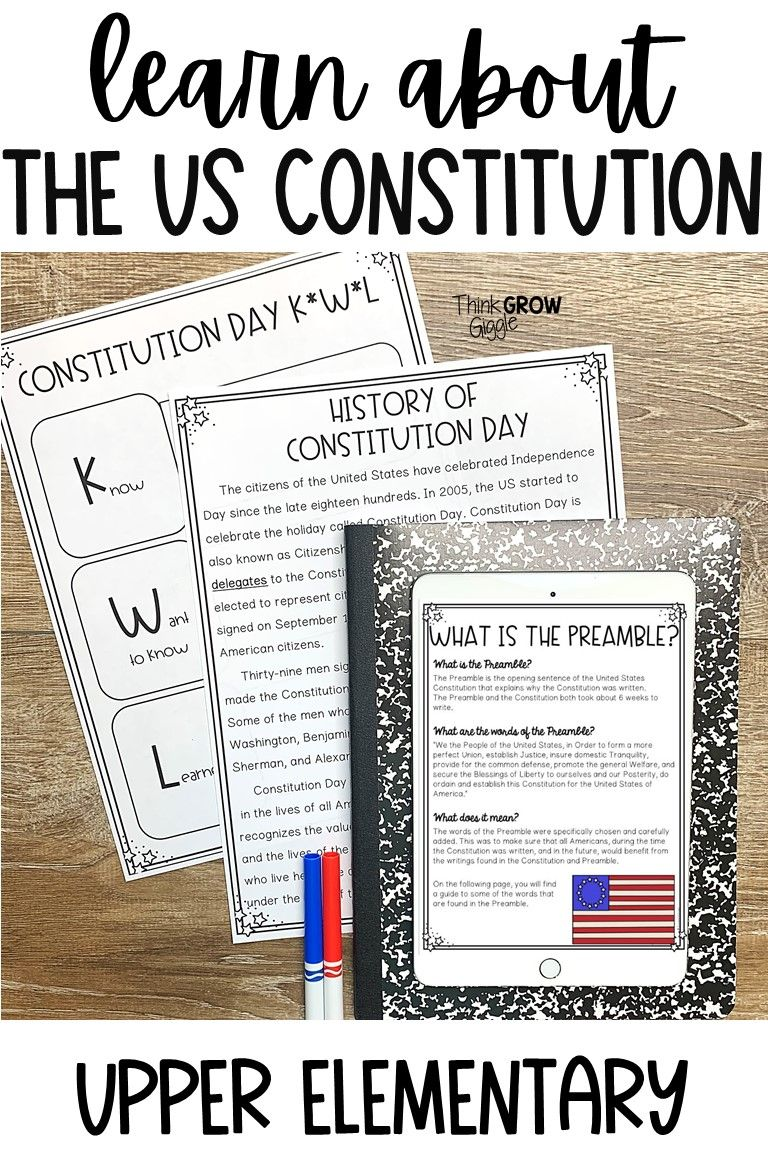 Constitution Day Activities For Kids Constitution Day Upper Elementary Resources Elementary Social Study
