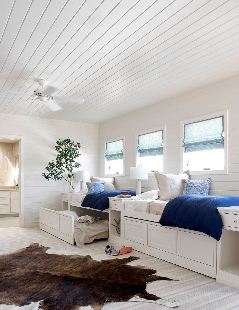 Bunk House For Kids Love The Shiplap Ceilings Design By Collins