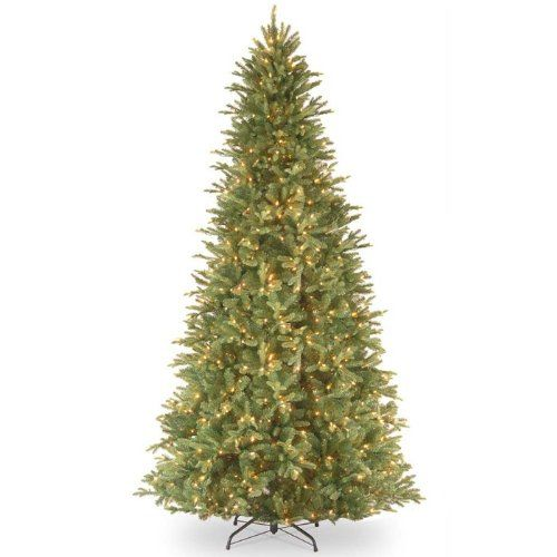 Feel-Real Tiffany Fir-Slim Hinged Pre-Lit Christmas Tree ^^ Huge ...
