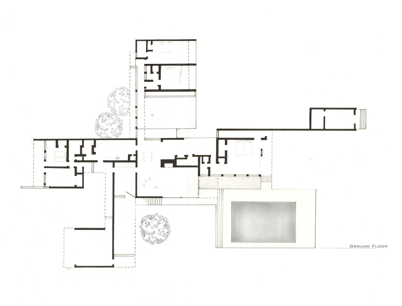 Kaufman house richard neutra google search house for Searchable house plans