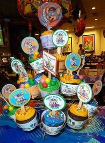Chuck E Cheese Cupcake Tower wrappers and toppers Party all the