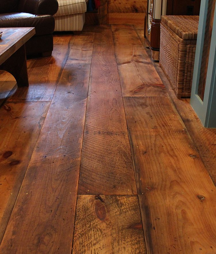 Our rustic circle sawn fir flooring will add a for Diy wood flooring ideas