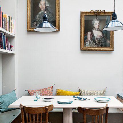 un appartement aux airs de maison en banlieue parisienne banquette dans la cuisine et la cuisine. Black Bedroom Furniture Sets. Home Design Ideas
