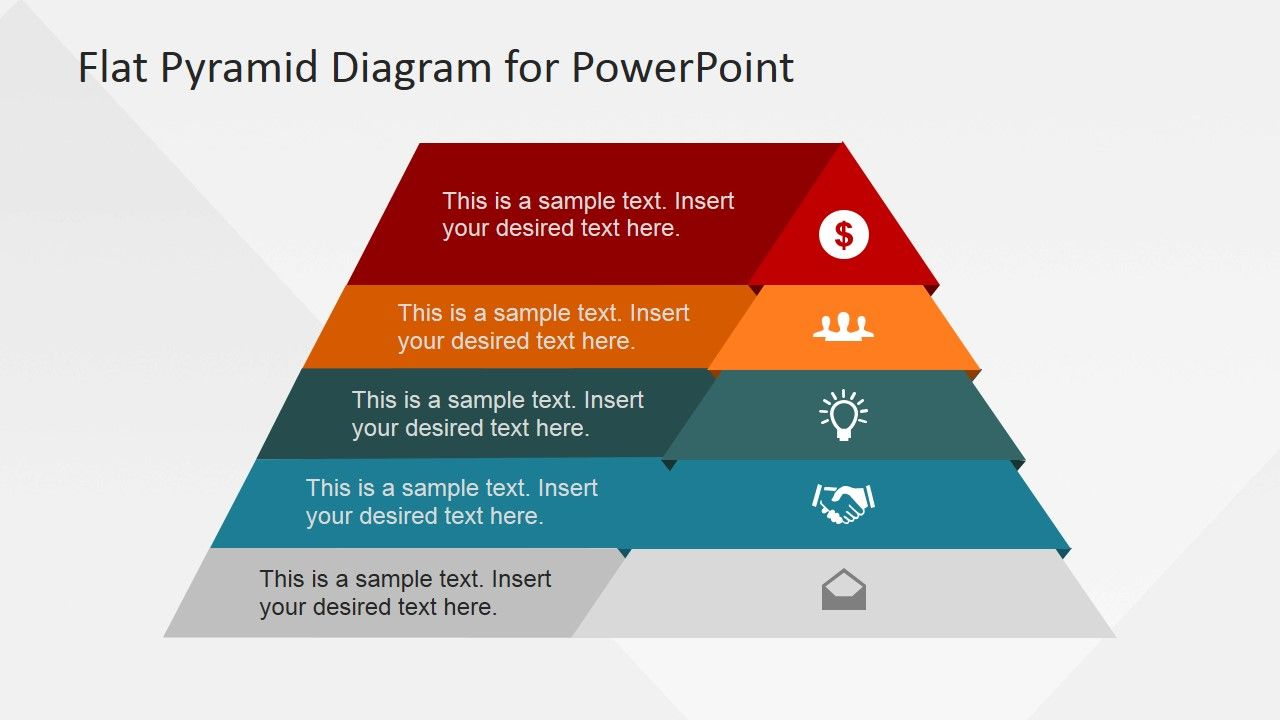 5 levels flat pyramid diagram template for powerpoint 5 levels flat pyramid diagram template for powerpoint is a creative pyramids powerpoint template design with ccuart Images