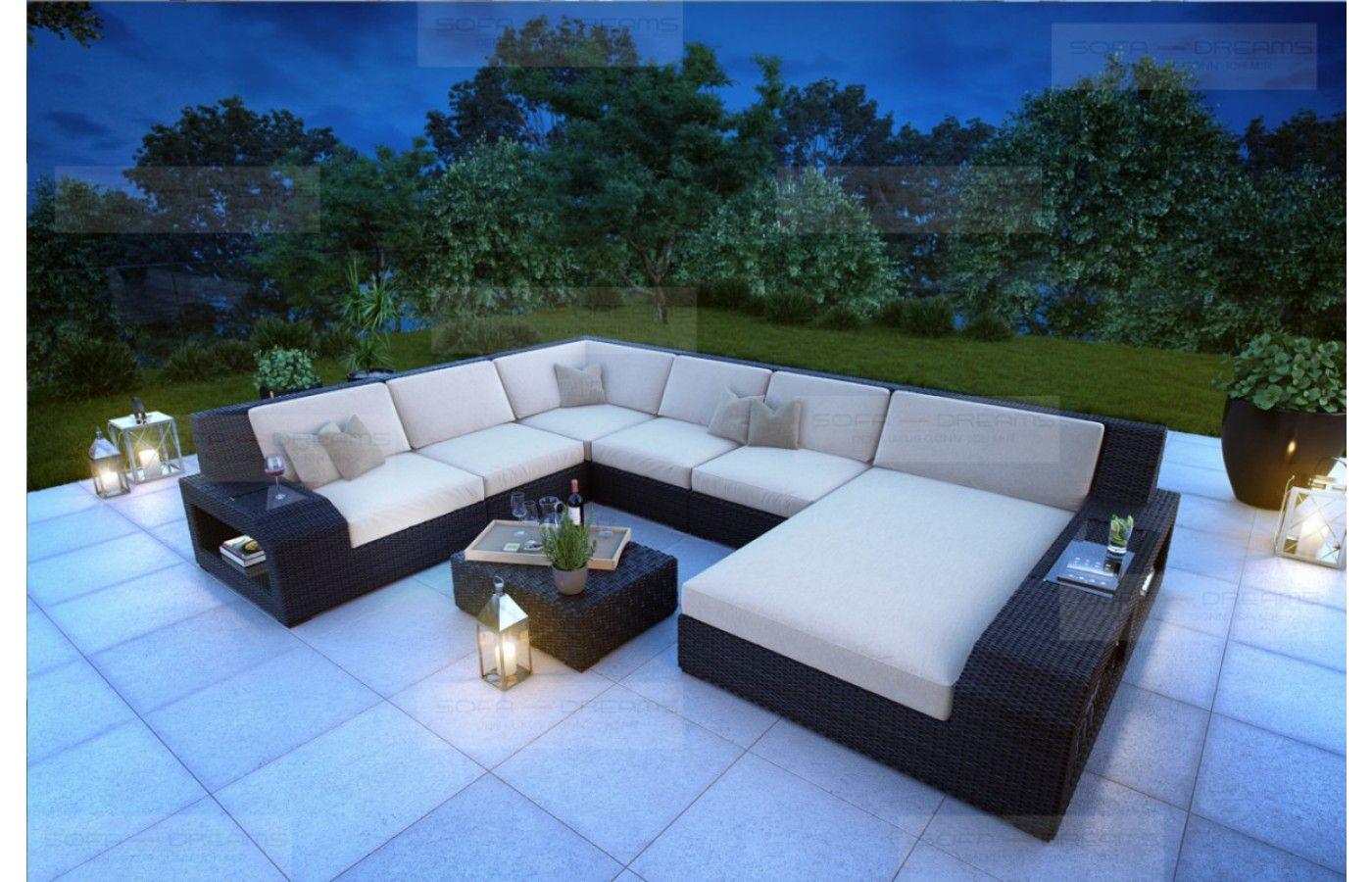 Rattan #Sofa Set MATERA mit Beleuchtung - Exklusiv bei Sofa Dreams ...