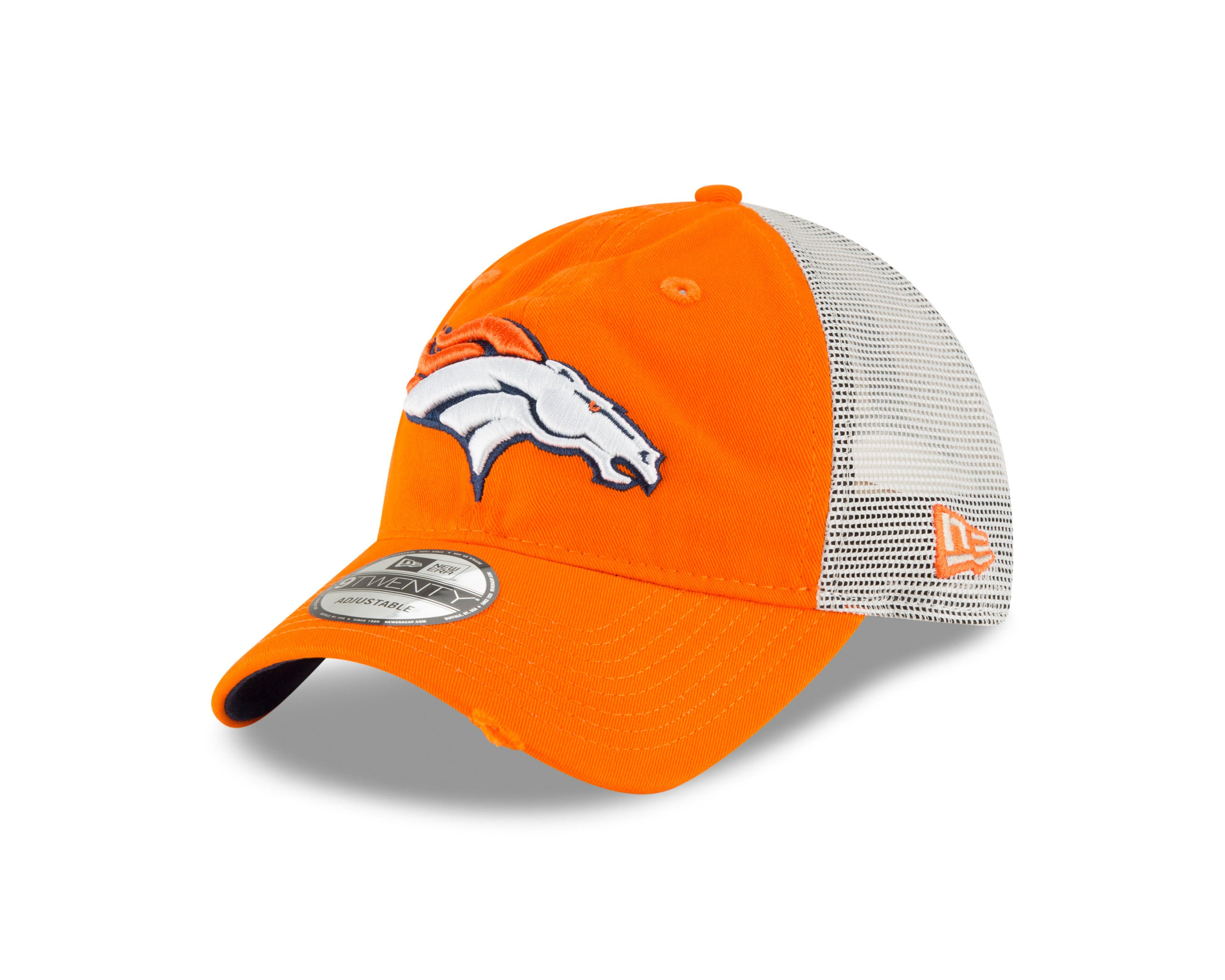 Men s Denver Broncos New Era Stated Back Trucker 9FORTY Adjustable Snapback  Hat 331f357f7d5c