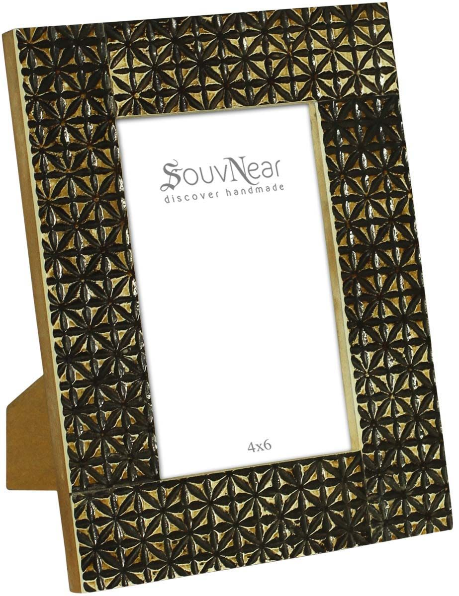 Bulk Wholesale Dark-Golden Hand-Carved Photo / Picture Frame in Wood ...