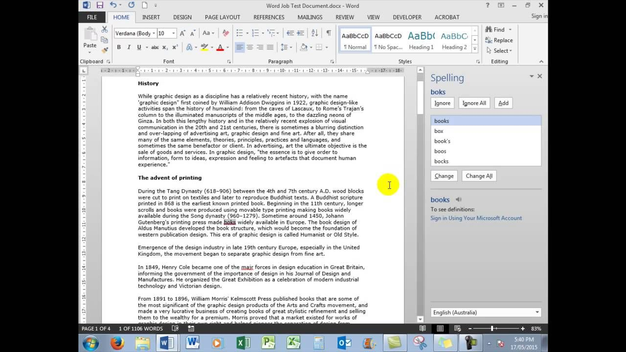 Microsoft Word Job Application Test Part PreEmployment