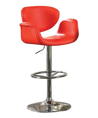 Red Moda Swivel Bar Chair, $200 !!  #zulily #zulilyfinds