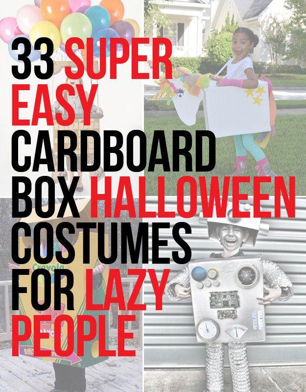 33 Super Easy Cardboard Box Halloween Costumes For Lazy People - super easy halloween costume ideas