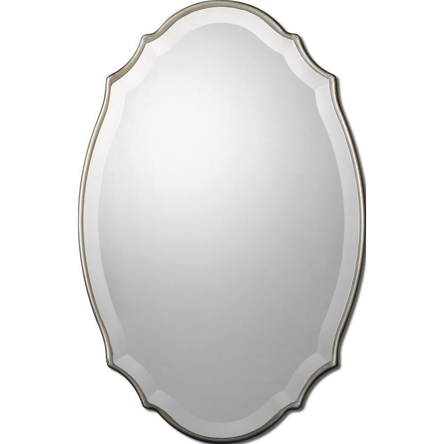 allen + roth 20-in x 30-in Silver Beveled Oval Framed French Wall ...