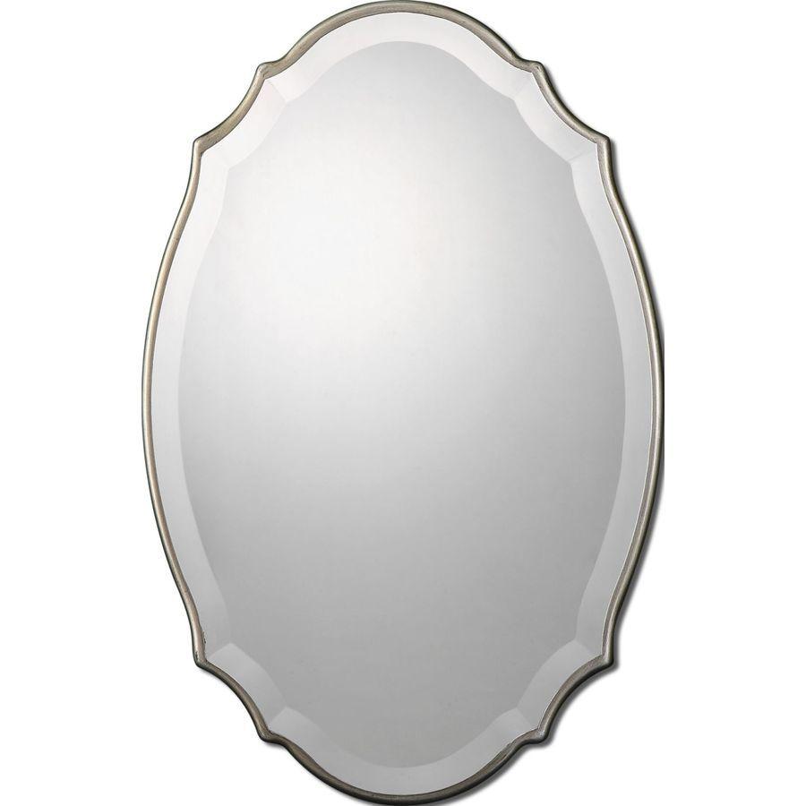 Superior Uttermost Sannita Mirror In Burnished Silver 13821
