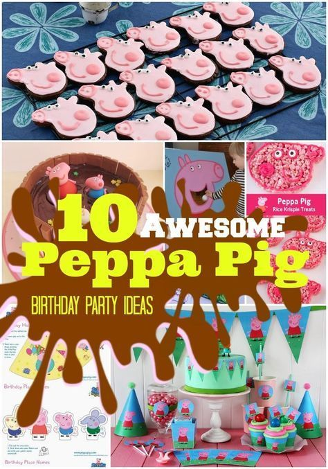 Top 10  Oink Oink  Peppa Pig Birthday Party Ideas - Peppa pig birthday, Peppa pig birthday party, Pig birthday, Pig birthday party, Adorable birthday party, Peppa pig party - If your child loves Peppa Pig, why not throw them a Birthday bash they will truly love and include these Top 10  Oinkingly  adorable Birthday Party Ideas